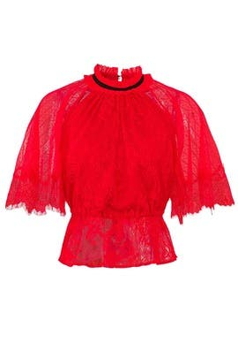 Red Coral Bells Top by Three Floor