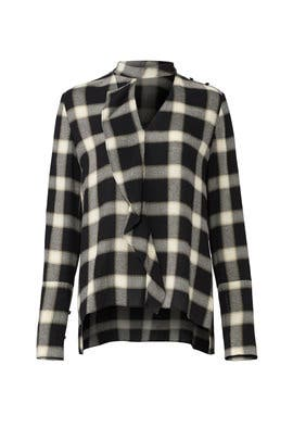 Plaid Cascade Blouse by Derek Lam 10 Crosby