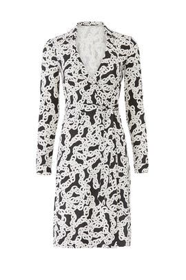 New Jeanne Chain Wrap Dress by Diane von Furstenberg