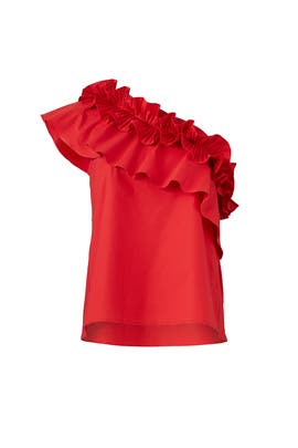 Red Esme Top by SALONI