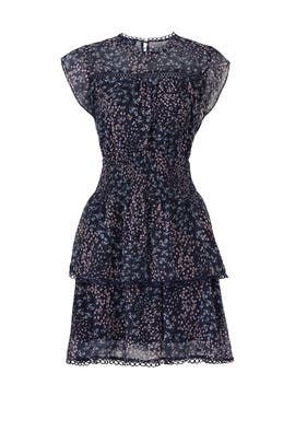 Navy Floral Tiered Dress by Slate & Willow