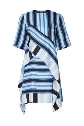 Blue Stripe Shift Dress by Diane von Furstenberg