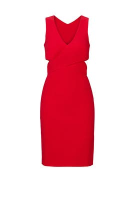 Red Aldridge Cutout Dress by Elizabeth and James