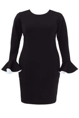 Black Flounce Sleeve Dress by ELOQUII