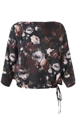 Floral Tie Hem Top by Fuzzi