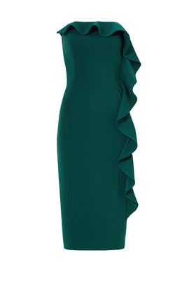 Green Baker Dress by Jay Godfrey