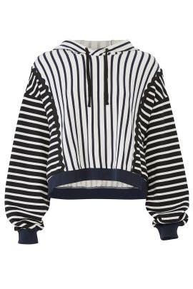 Zig Zag Stripe Hoodie by Jonathan Simkhai