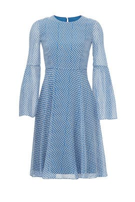 Blue Abbie Dress by L.K. Bennett