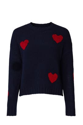 Marissa Heart Printed Sweater by Rails