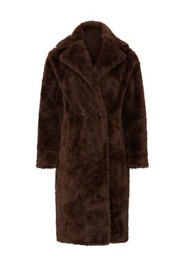 Brown Faux Fur Coat by Sweet Baby Jamie