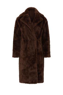Brown Faux Fur Coat by Sweet Baby Jamie