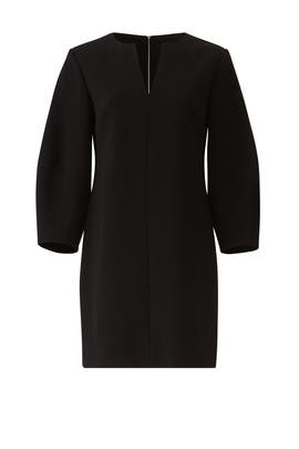 Black Sculpted Sleeve Dress by Tibi