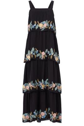 Black Salma Midi Dress by Vilshenko