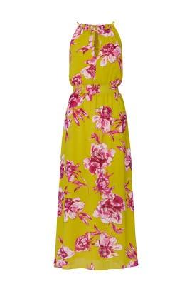 Yellow Floral Neck Tie Dress by Great Jones