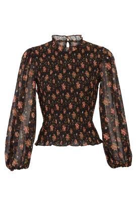 Floral Blouson Sleeve Top by J.O.A.