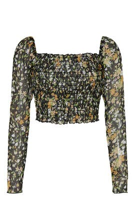 Floral Ruched Body Top by Louna