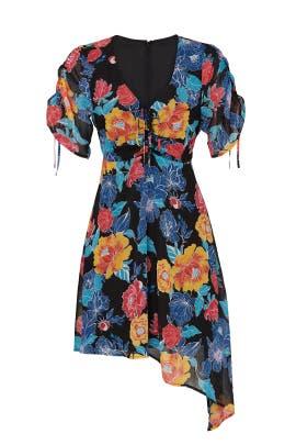 Floral Asymmetrical Hem Dress by Slate & Willow
