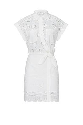 White Bettina Dress by Veronica Beard