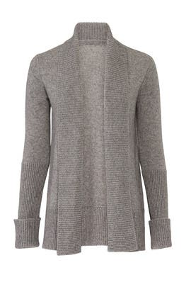 Wide Collar Cardigan by VINCE.