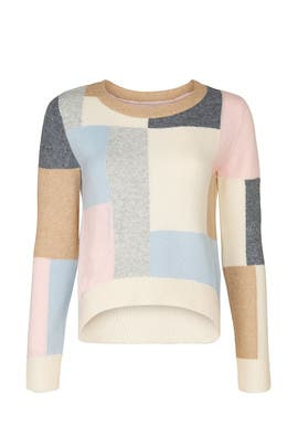 Patchwork Crew Neck Sweater by Adam Lippes Collective