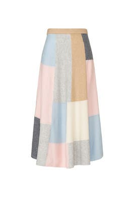 Patchwork Circle Skirt by Adam Lippes Collective