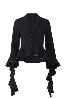 Black Adelle Jacket by Alexis