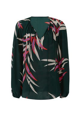 Hunter Long Sleeve Blouse by Diane von Furstenberg
