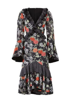 Black Floral Astral Dress by FINDERS KEEPERS