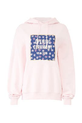 Pink Box Logo Hoodie by Opening Ceremony