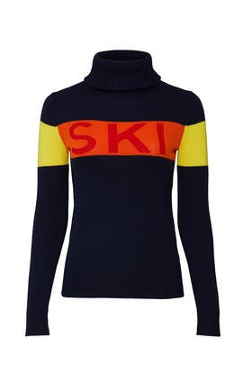 Navy Ski Sweater by Perfect Moment