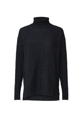 Grey Relaxed Turtleneck by Polo Ralph Lauren