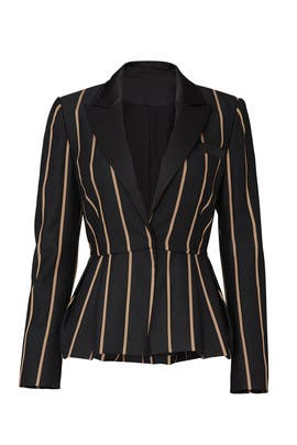 Tailoring Stripe Blazer by Self-portrait