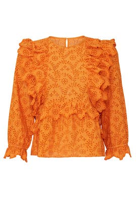 Eyelet Flutter Top by The Great.