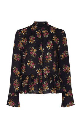 Floral Button Front Top by Thakoon Collective