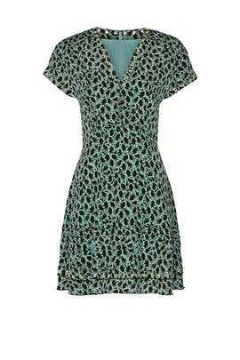 Grommet Detail V-Neck Dress by Derek Lam 10 Crosby