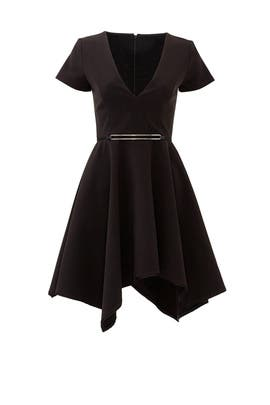 Black Jagged Edge Dress by Halston Heritage