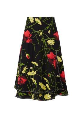 Poppy Print Skirt by Jason Wu