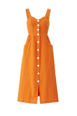 Orange Ablaze Midi Dress by La Maison Talulah