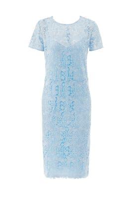 Ice Blue Guipure Lace Dress by Nina Ricci