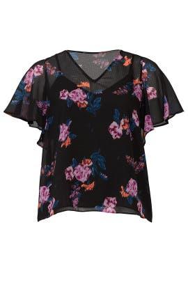 Floral Flutter Sleeve Top by Rachel Rachel Roy