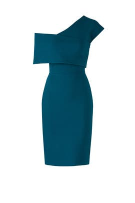 Teal Popover Dress by ELLIATT