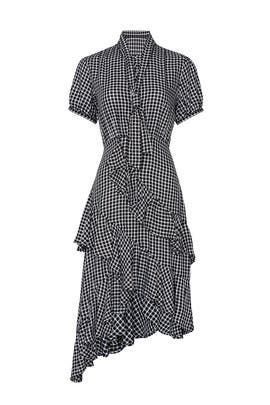 Gingham Tie Neck Dress by Great Jones