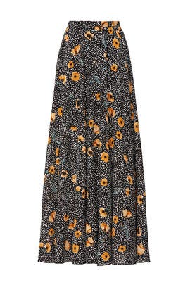 Polka Dot Floral Skirt by Great Jones