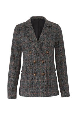 Charcoal Plaid Ivy Blazer by HEARTLOOM