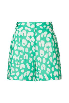 Madison Jungle Leopard Shorts by Milly