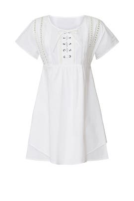 White Lace Up Dress by Marissa Webb Collective