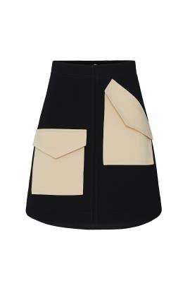 Bond Stretch Knit Patched Skirt by Tibi