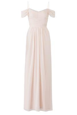 Adrianna Papell Blush Drape Gown