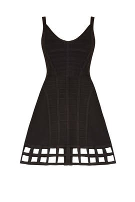 Black Vivien Cage Dress by Hervé Léger