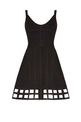 Black Vivien Cage Dress by Hervé Léger
